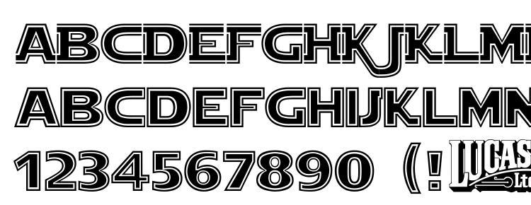 глифы шрифта Star jedi outline, символы шрифта Star jedi outline, символьная карта шрифта Star jedi outline, предварительный просмотр шрифта Star jedi outline, алфавит шрифта Star jedi outline, шрифт Star jedi outline
