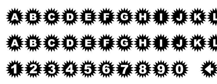 glyphs Starbats font, сharacters Starbats font, symbols Starbats font, character map Starbats font, preview Starbats font, abc Starbats font, Starbats font