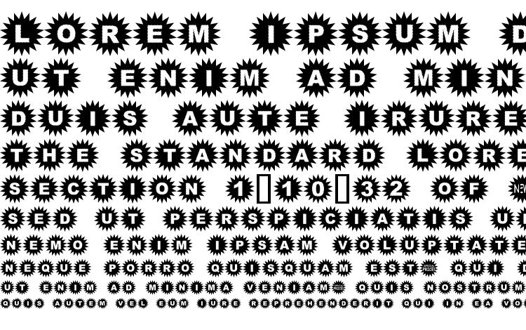specimens Starbats font, sample Starbats font, an example of writing Starbats font, review Starbats font, preview Starbats font, Starbats font