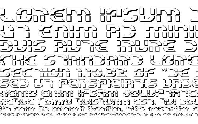 specimens Starfighter Beta 3D font, sample Starfighter Beta 3D font, an example of writing Starfighter Beta 3D font, review Starfighter Beta 3D font, preview Starfighter Beta 3D font, Starfighter Beta 3D font