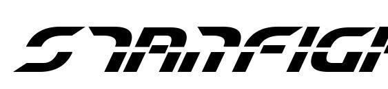 Шрифт Starfighter Beta Bold Italic