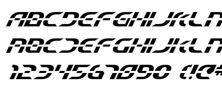 glyphs Starfighter Beta Italic font, сharacters Starfighter Beta Italic font, symbols Starfighter Beta Italic font, character map Starfighter Beta Italic font, preview Starfighter Beta Italic font, abc Starfighter Beta Italic font, Starfighter Beta Italic font