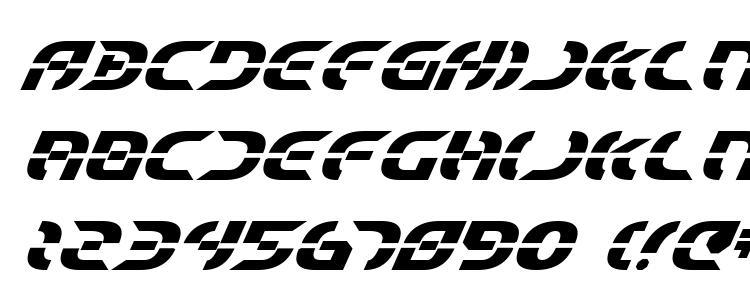 глифы шрифта Starfighter Bold Italic, символы шрифта Starfighter Bold Italic, символьная карта шрифта Starfighter Bold Italic, предварительный просмотр шрифта Starfighter Bold Italic, алфавит шрифта Starfighter Bold Italic, шрифт Starfighter Bold Italic