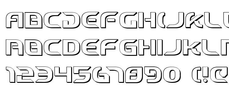 glyphs Starfighter Cadet 3D font, сharacters Starfighter Cadet 3D font, symbols Starfighter Cadet 3D font, character map Starfighter Cadet 3D font, preview Starfighter Cadet 3D font, abc Starfighter Cadet 3D font, Starfighter Cadet 3D font