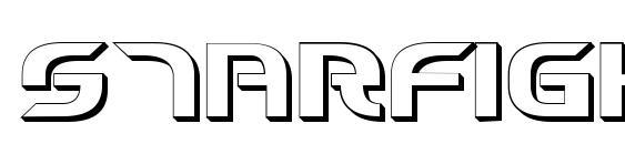 Starfighter Cadet 3D font, free Starfighter Cadet 3D font, preview Starfighter Cadet 3D font