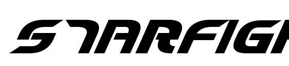 Starfighter Cadet Bold Italic Font