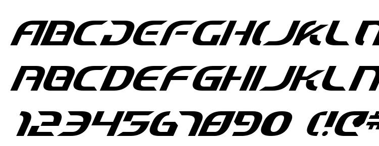 глифы шрифта Starfighter Cadet Italic, символы шрифта Starfighter Cadet Italic, символьная карта шрифта Starfighter Cadet Italic, предварительный просмотр шрифта Starfighter Cadet Italic, алфавит шрифта Starfighter Cadet Italic, шрифт Starfighter Cadet Italic