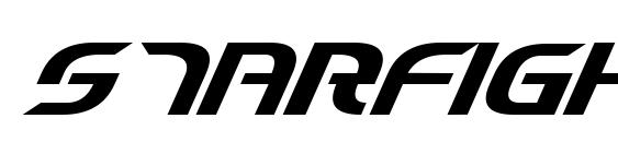 Шрифт Starfighter Cadet Italic