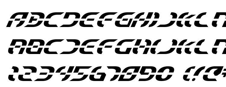 глифы шрифта Starfighter Italic, символы шрифта Starfighter Italic, символьная карта шрифта Starfighter Italic, предварительный просмотр шрифта Starfighter Italic, алфавит шрифта Starfighter Italic, шрифт Starfighter Italic