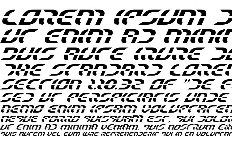 specimens Starfighter Italic font, sample Starfighter Italic font, an example of writing Starfighter Italic font, review Starfighter Italic font, preview Starfighter Italic font, Starfighter Italic font