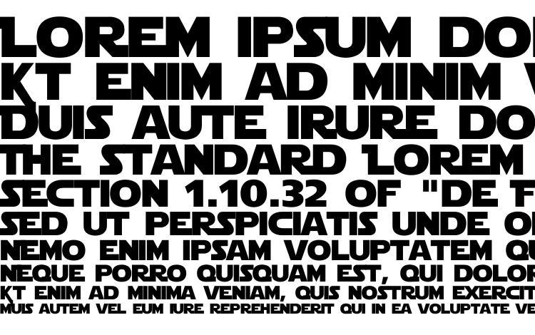 specimens Starjedi font, sample Starjedi font, an example of writing Starjedi font, review Starjedi font, preview Starjedi font, Starjedi font