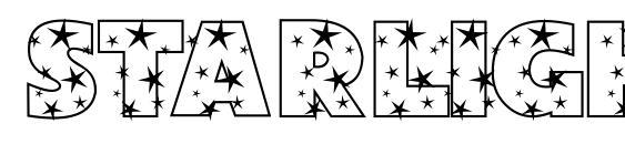 Starlight Sans JL font, free Starlight Sans JL font, preview Starlight Sans JL font