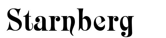 шрифт Starnberg, бесплатный шрифт Starnberg, предварительный просмотр шрифта Starnberg