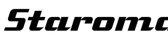 Шрифт Staromat Italic
