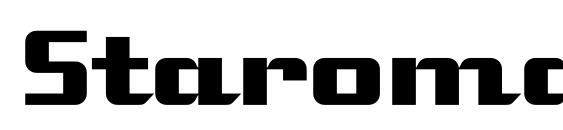 Шрифт Staromat