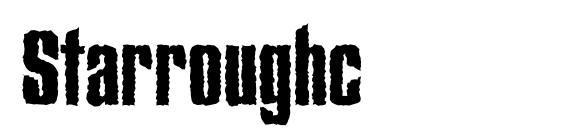 Шрифт Starroughc