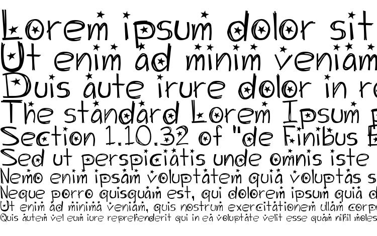 specimens Starry Night font, sample Starry Night font, an example of writing Starry Night font, review Starry Night font, preview Starry Night font, Starry Night font