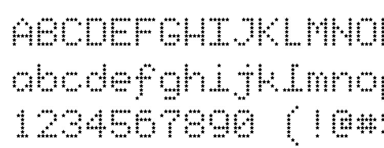 глифы шрифта Starrytype, символы шрифта Starrytype, символьная карта шрифта Starrytype, предварительный просмотр шрифта Starrytype, алфавит шрифта Starrytype, шрифт Starrytype