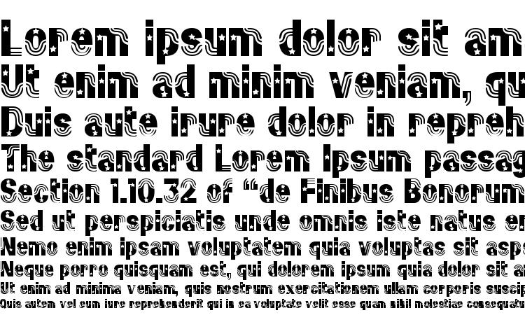 specimens Stars&Stripes Regular font, sample Stars&Stripes Regular font, an example of writing Stars&Stripes Regular font, review Stars&Stripes Regular font, preview Stars&Stripes Regular font, Stars&Stripes Regular font