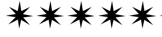 Шрифт Stars1