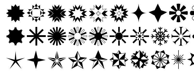 glyphs Stars1o font, сharacters Stars1o font, symbols Stars1o font, character map Stars1o font, preview Stars1o font, abc Stars1o font, Stars1o font