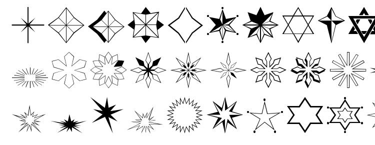 глифы шрифта Stars2o, символы шрифта Stars2o, символьная карта шрифта Stars2o, предварительный просмотр шрифта Stars2o, алфавит шрифта Stars2o, шрифт Stars2o