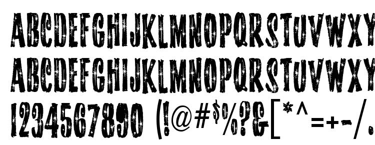 глифы шрифта Starshine MF, символы шрифта Starshine MF, символьная карта шрифта Starshine MF, предварительный просмотр шрифта Starshine MF, алфавит шрифта Starshine MF, шрифт Starshine MF