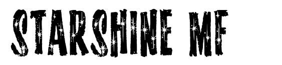 Starshine MF font, free Starshine MF font, preview Starshine MF font