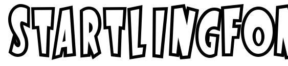 шрифт StartlingFontOpen, бесплатный шрифт StartlingFontOpen, предварительный просмотр шрифта StartlingFontOpen