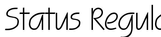Шрифт Status Regular