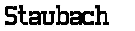 Staubach font, free Staubach font, preview Staubach font