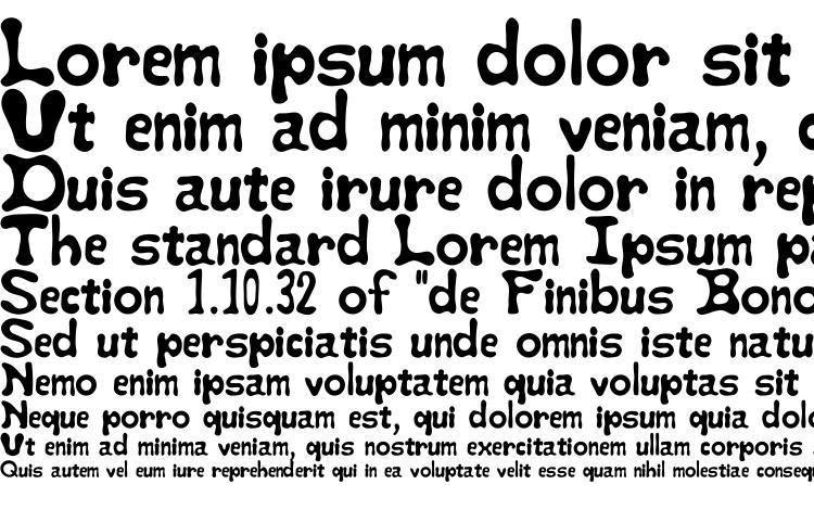 specimens StayPuft font, sample StayPuft font, an example of writing StayPuft font, review StayPuft font, preview StayPuft font, StayPuft font
