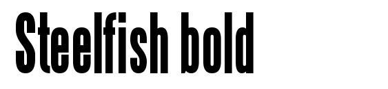 Шрифт Steelfish bold