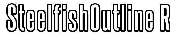 SteelfishOutline Regular Font