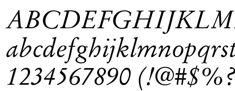 глифы шрифта Stempel Garamond LT Italic, символы шрифта Stempel Garamond LT Italic, символьная карта шрифта Stempel Garamond LT Italic, предварительный просмотр шрифта Stempel Garamond LT Italic, алфавит шрифта Stempel Garamond LT Italic, шрифт Stempel Garamond LT Italic