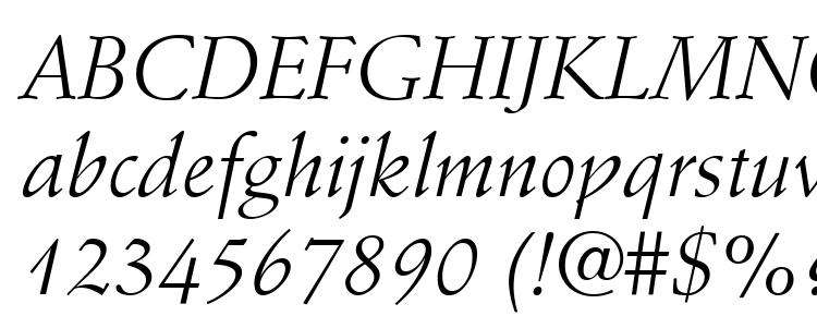 глифы шрифта Stempel Schneidler LT Italic, символы шрифта Stempel Schneidler LT Italic, символьная карта шрифта Stempel Schneidler LT Italic, предварительный просмотр шрифта Stempel Schneidler LT Italic, алфавит шрифта Stempel Schneidler LT Italic, шрифт Stempel Schneidler LT Italic