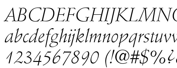 glyphs Stempel Schneidler LT Light Italic font, сharacters Stempel Schneidler LT Light Italic font, symbols Stempel Schneidler LT Light Italic font, character map Stempel Schneidler LT Light Italic font, preview Stempel Schneidler LT Light Italic font, abc Stempel Schneidler LT Light Italic font, Stempel Schneidler LT Light Italic font
