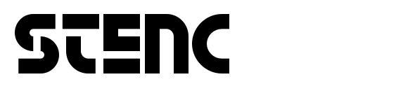 Stenc Font
