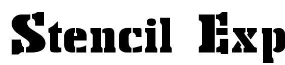 шрифт Stencil Export, бесплатный шрифт Stencil Export, предварительный просмотр шрифта Stencil Export