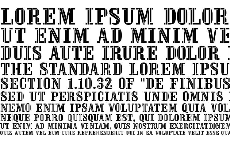 specimens Stencil four font, sample Stencil four font, an example of writing Stencil four font, review Stencil four font, preview Stencil four font, Stencil four font