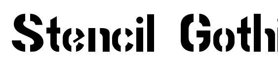 Шрифт Stencil Gothic JL