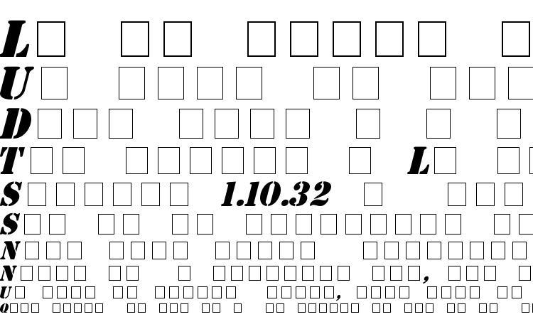 specimens Stencil Italic font, sample Stencil Italic font, an example of writing Stencil Italic font, review Stencil Italic font, preview Stencil Italic font, Stencil Italic font