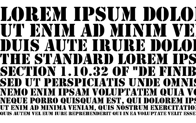 образцы шрифта Stencil Regular DB, образец шрифта Stencil Regular DB, пример написания шрифта Stencil Regular DB, просмотр шрифта Stencil Regular DB, предосмотр шрифта Stencil Regular DB, шрифт Stencil Regular DB