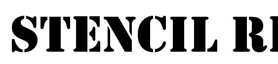 Stencil Regular Font