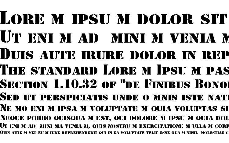 specimens Stencil font, sample Stencil font, an example of writing Stencil font, review Stencil font, preview Stencil font, Stencil font