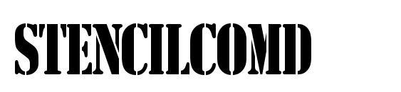 StencilComD Font
