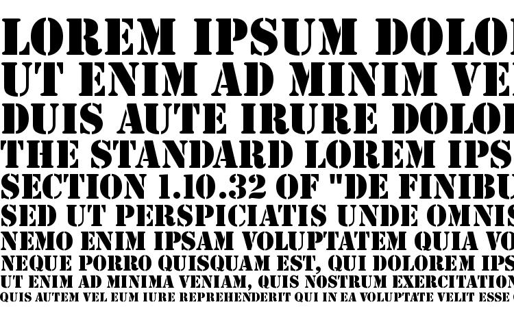 specimens StencilD font, sample StencilD font, an example of writing StencilD font, review StencilD font, preview StencilD font, StencilD font