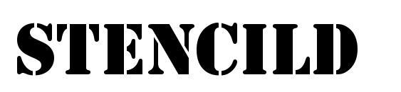 шрифт StencilD, бесплатный шрифт StencilD, предварительный просмотр шрифта StencilD