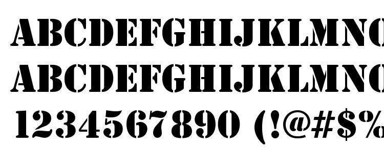 glyphs StencilDEE font, сharacters StencilDEE font, symbols StencilDEE font, character map StencilDEE font, preview StencilDEE font, abc StencilDEE font, StencilDEE font