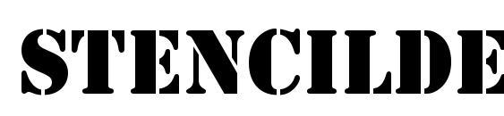 StencilDEE Font